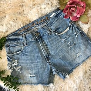 American Eagle Cutoff Shorts Ripped Distressed 32